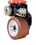 Moto-réducteur horizontal sur roue