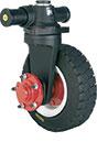 Axe-pivôt deux roues : détail